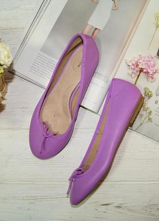 Lands`end! кожа! красивые туфли, балетки на низком ходу