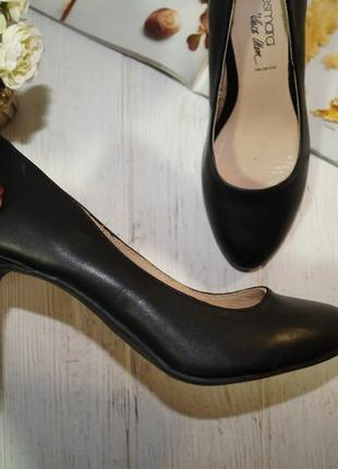 Esmara! кожа! красивые базовые туфли лодочки актуального фасона3 фото
