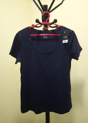 Синяя хлопковая футболка esmara