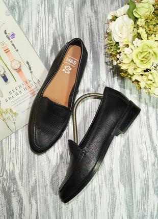 Marks&spencer. кожа. базовые туфли на низком ходу