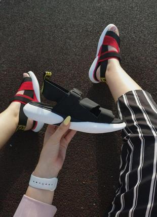 Шикарные женские летние сандали off white black 😍 (босоножки)5 фото