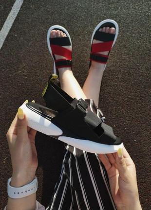 Шикарные женские летние сандали off white black 😍 (босоножки)3 фото