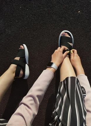 Шикарные женские летние сандали off white black 😍 (босоножки)4 фото