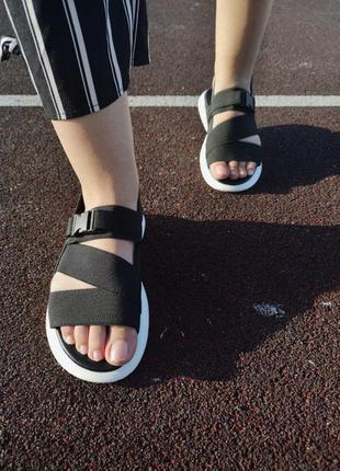 Шикарные женские летние сандали off white black 😍 (босоножки)10 фото
