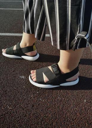 Шикарные женские летние сандали off white black 😍 (босоножки)8 фото