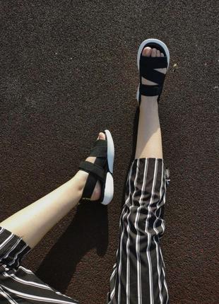 Шикарные женские летние сандали off white black 😍 (босоножки)9 фото