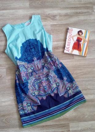 Шикарное натуральное, летнее платье футляр 12 - 14