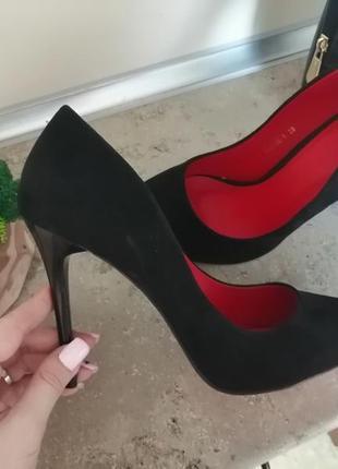 🖤❤️чёрные туфли лодочки❤️🖤3 фото