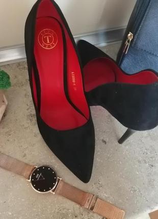 🖤❤️чёрные туфли лодочки❤️🖤5 фото