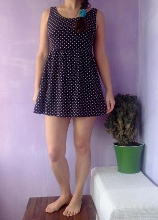 Платье в горох платье летнее платье хлопковое 12 размера платье мини