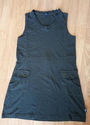 Брендовый, стильный сарафан с карманами, свободного кроя. бренд cecil. размер м.