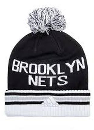 Шапка зимняя adidas woolie brooklyn nets ( арт. ac0943)
