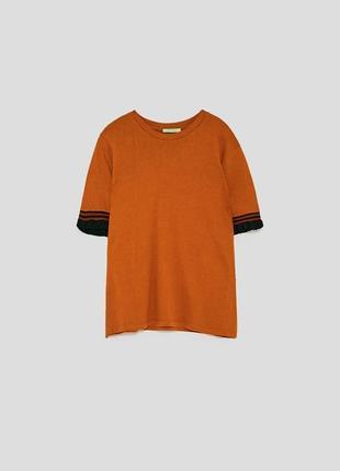 Топ /футболка с рукавами воланами zara trafaluk portugal