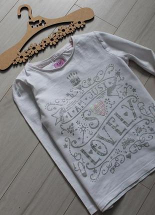 Реглан, футболка с рукавом хлопок на 4-5 лет f&f
