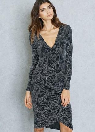 Мерцающее вечернее платье с v-образным вырезом miss selfrige p.40-43