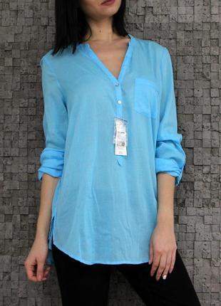 Стильная яркая и легкая рубашка из натуральной ткани