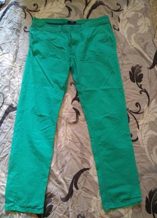 Мятные мужские брюки