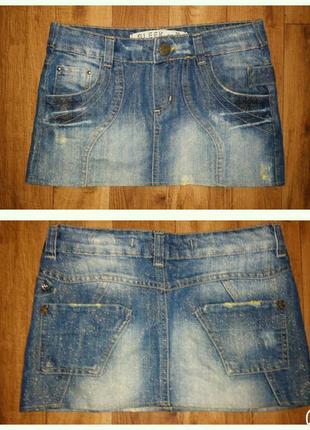 Прикольная джинсовая юбка!