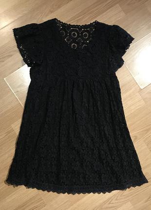 Милое свободное кружевное платье