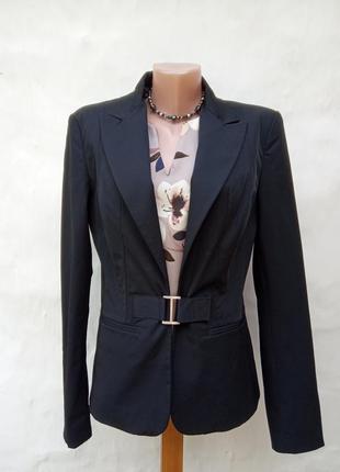 Стильный черный приталенный жакет john,в стиле victoria beckham,пиджак офисный.