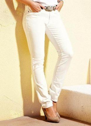 Акция! белые джинсы slim-fit с вышивкой р. евро 36/38, 40, 42, 48, 50 tchibo германия