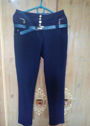 Класичні брюки з високою талією,вкорочені