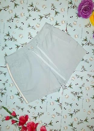 Акция 1+1=3 стильные светло мятные короткие шорты с лампасами next, размер 44 - 46