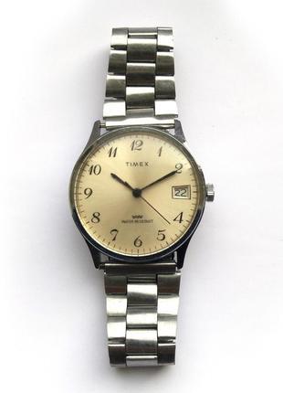 Timex механические мужские часы из сша с датой water resist