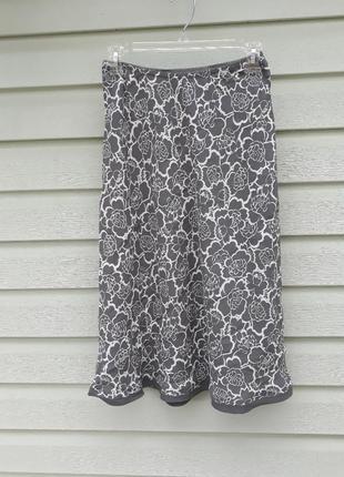 Легкая юбка миди