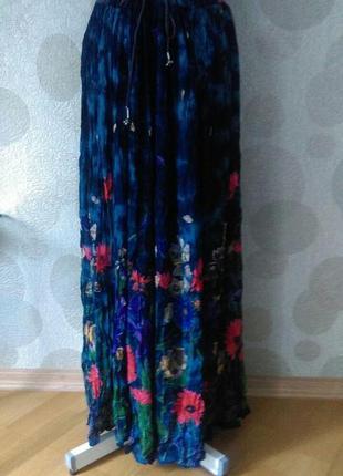 Изумительная  юбка  батик из жатой ткани