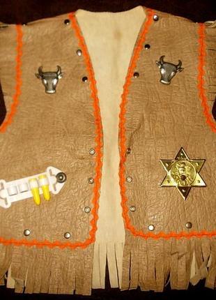 Жилет маскарадный для ковбоя или шерифа
