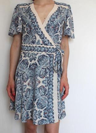 Bcbg max azria платье на запах женское летнее