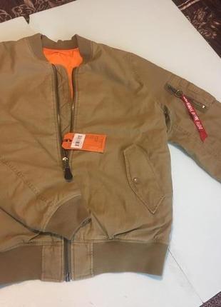 Лётная куртка бомбер alpha ind. ma-1 ctn olive drab