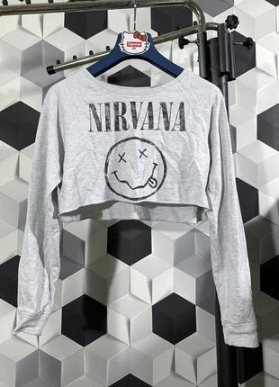 Nirvana  женская кофта топ нирвана оригинал м