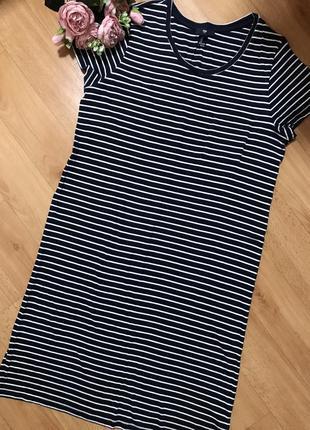 2bedce07678b4b4 Базовое платье футболка в полоску на лето gap l GAP, цена - 250 грн ...