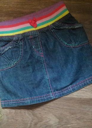 Юбка джинсовая на резинке