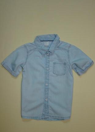 Джинсовая рубашка тенниска h&m 2-3 года