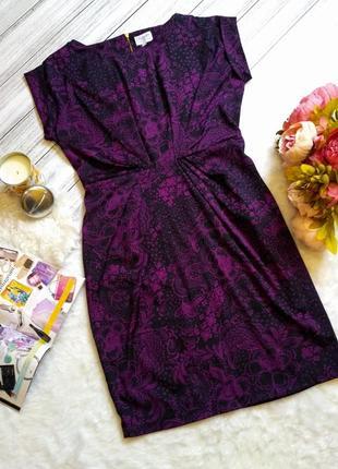 Шикарное платье в цветы размер 12-14 (44-46)1 фото