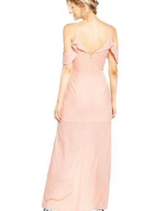 Красивое длинное нарядное вечернее платье miss selfridge