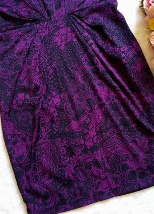 Шикарное платье в цветы размер 12-14 (44-46)3 фото