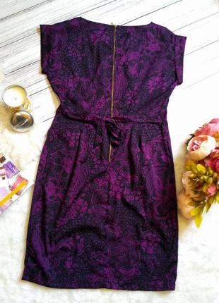 Шикарное платье в цветы размер 12-14 (44-46)5 фото