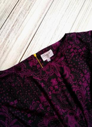 Шикарное платье в цветы размер 12-14 (44-46)6 фото