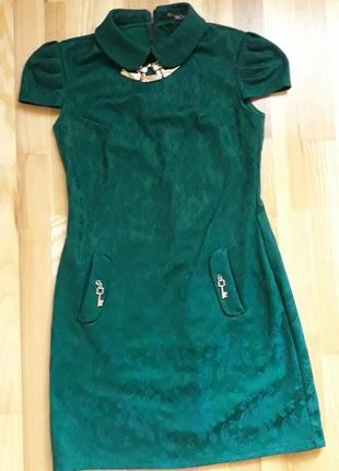 Платье зеленое1 фото