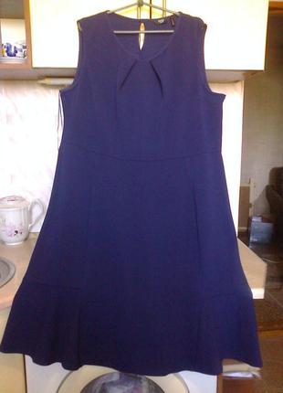 Фирменое стильное синее платье - сарафан