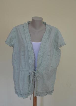 Шикарная блузочка ткань ришелье из хлопка большого 22 размера