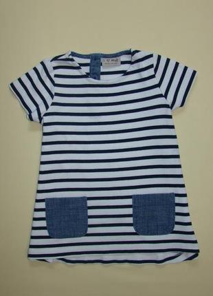 Морячка полосатое платье next 2-3 года