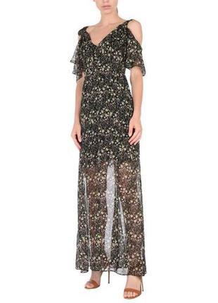 Новое фирменное шифоновое макси платье сарафан в цветах
