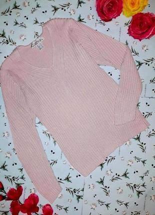 Акция 1+1=3 стильный пудрово розовый свитер резинка, размер 46 - 48