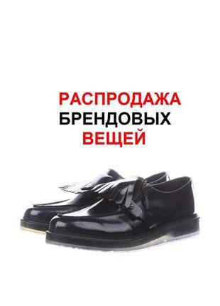 100% оригинал diesel 300€ черные кожаные туфли  25-25,5 см по стельке