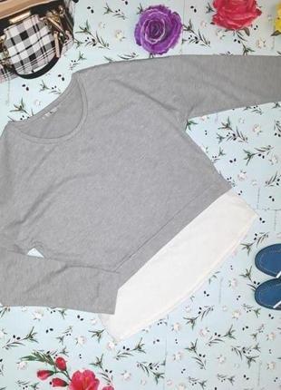 Модный плотный свитер с имитацией рубашки tu, размер 46 - 48